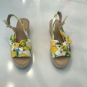 Franco Sarto Floral espadrille Wedges